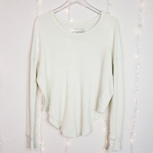 We The Free Waffle Knit Thermal Long Sleeve Top